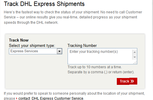 dhl courier tracking india tracking number courier. Black Bedroom Furniture Sets. Home Design Ideas