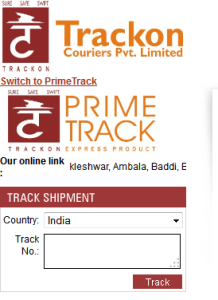 Trackon-Courier-Tracking-Form